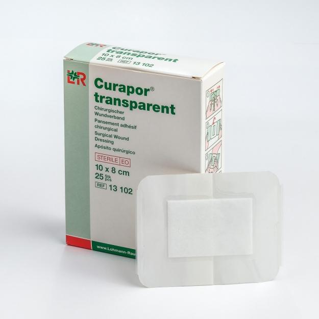 Стерильный пластырь Curapor Transparent водостойкий 10*8 (Арт.13 102)
